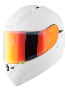 Casco Joe Rocket Rkt 14 Blanco Iridio / 2 Micas