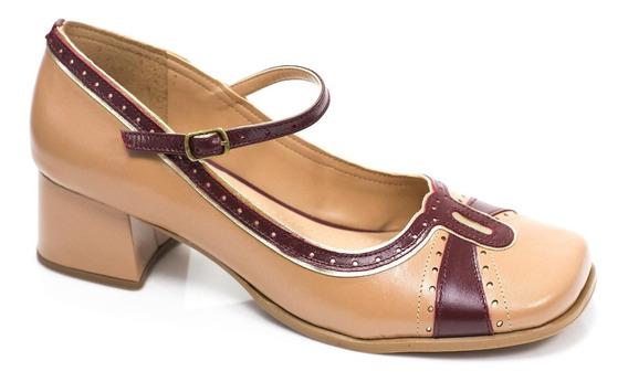 Sapato Boneca Em Couro Aurora Zpz Shoes