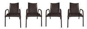 Conjunto De 4 Cadeiras De Varanda Ideale Wj Móveis