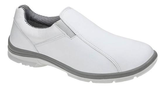 Sapato De Microfibra Branco Enfermagem Medicina Marluvas