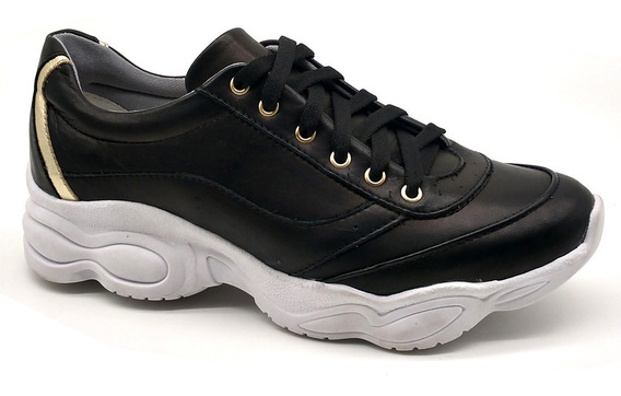 Tênis Dad Chunky Sneaker Feminina Bm Brasil 251 Preto