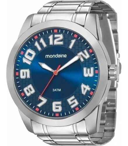 Relógio Mondaine Masculino Prata Barato Original Garantia