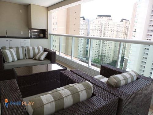 Imagem 1 de 29 de Apartamento Possuindo 127m2 Com 3 Suítes No Brooklin-sp - Ap6377