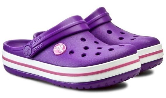 Crocs Crocband Kids Neon Purple -neon Magenta