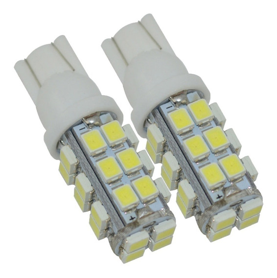Lampada Pingo 28 Leds Pingão Super Led Automotiva Farol -par