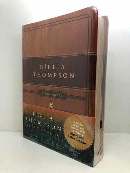 Bíblia Sagrada Estudo Thompson Letra Grande Marrom S/ Indice