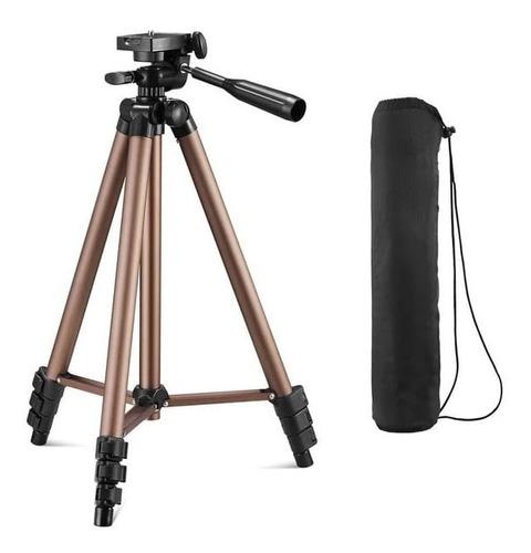 Imagem 1 de 5 de Tripe De Aluminio Universal 1,02 Metro Celular Camera
