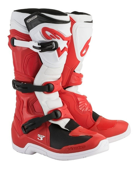 Botas Alpinestars Tech 3 B Red Motocross No Comp 5 Tech 7