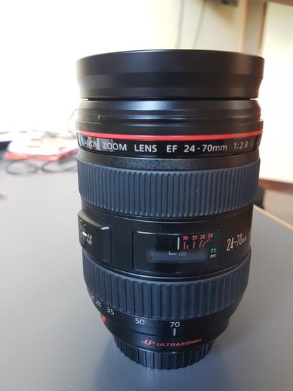 Lente Canon 24-70 - 2.8 Ultrasonic C/ Parasol E Bolsa Linda