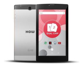 Tablet 3g Dual Chip How 8gb Wifi Gps 705g 7 Cor Cinza - Novo