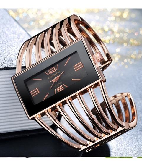 Relógio Feminino Tipo Bracelete Aço Inoxidável Elegante
