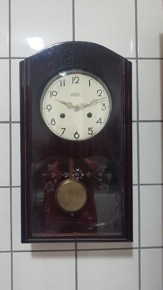 Relógio De Parede A Corda Em Madeira Schattan