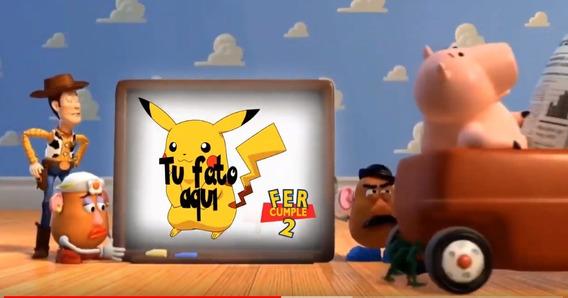 Invitación En Vídeo De Toy Story Con Foto