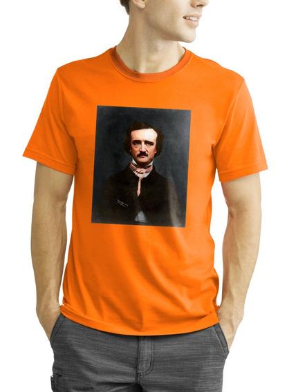 Camiseta Algodão Allan Poe O Corvo Livro Contos Stephen King