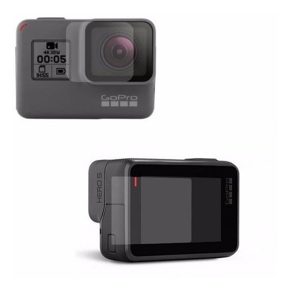 4 X Pelicula Vidro Temperado Camera Gopro Hero 5 Lente+visor
