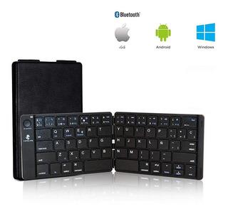 Teclado Plegable Bluetooth Español Tabletas Celulares Pc