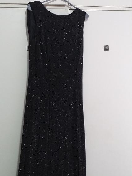 Vestido De Fiesta Largo Negro Elastizado