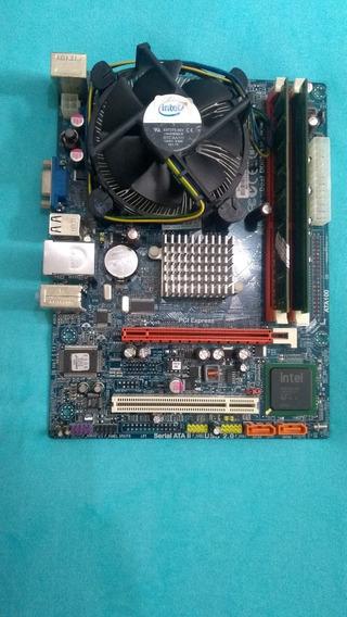 Placa Mãe Intel Lga 775 Ddr3 G41t-m7 Com 4gb E Dual Core