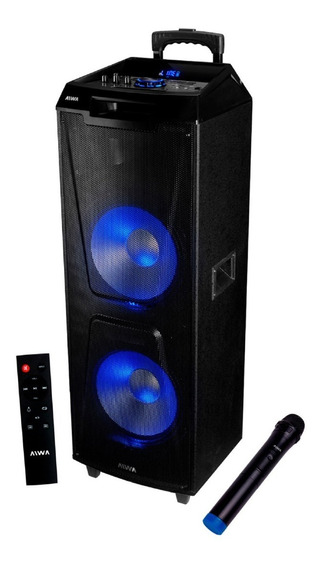 Parlante Bluetooth Aiwa Aw-t2400 24000 Pmpo Torre Sd Usb Aux