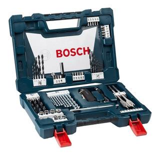 Set Kit Juego Bosch V-line 68 Pzs Puntas Mechas Tubos