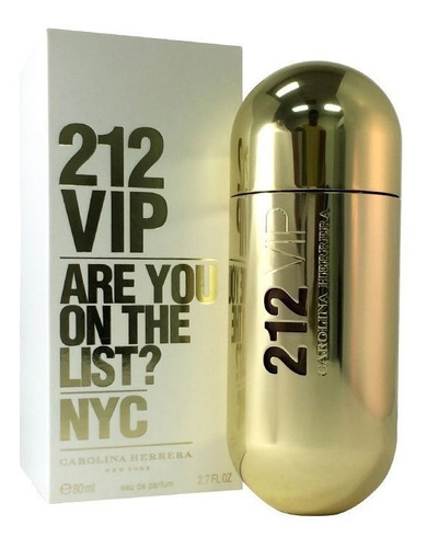 Imagen 1 de 1 de Perfume Dama Carolina Herrera 212 Vip 80 Ml Edp Original Usa