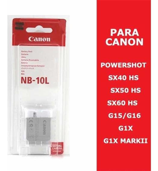Bateria Nb-10l Canon Powershot ! Leia A Descrição