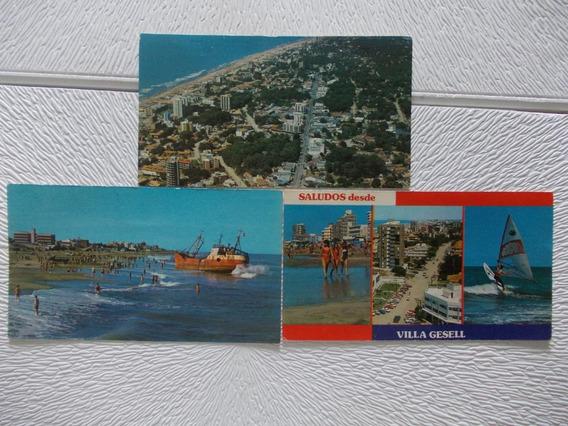 Lote 5 Postales Nº6656-5181 -6141 Villa Gessel