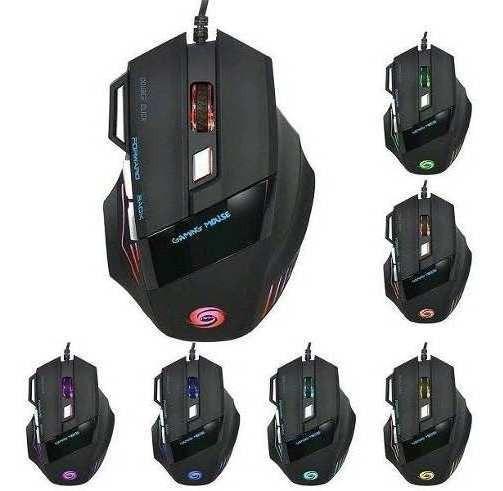 Mouse Gamer X7 Game Dpi 3400 Led Rgb 7 Botões Xtrad