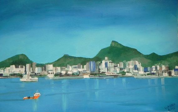 Pintura À Óleo Vista Centro Rio De Janeiro