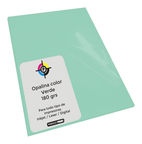 Opalina Color Oficio 180 Grs 20 Hojas Cartulina Papel Grueso