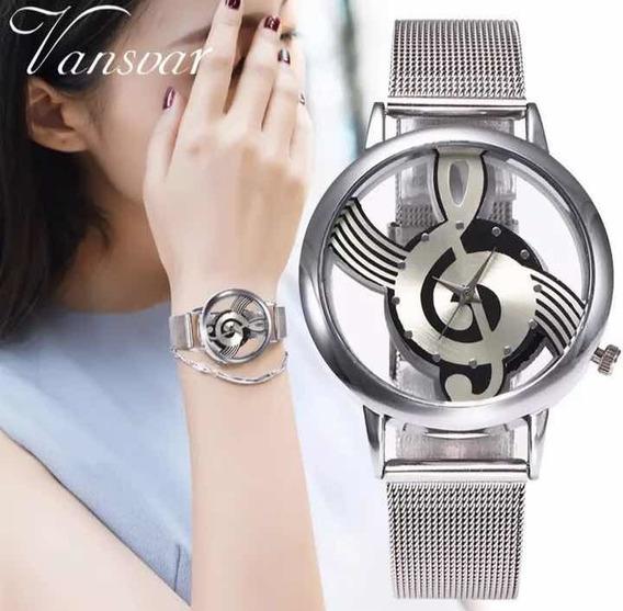 Relógio De Pulso Feminino Clave De Sol Música