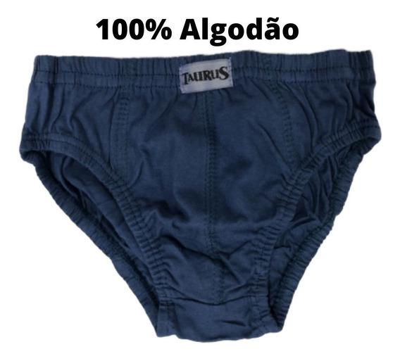 Cueca Slip Algodão Infantil Kids Kit C/9 Peças Qualidade