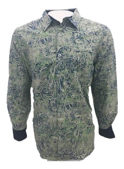 Camisa Casual Caballero Verde Manga Larga English Laundry