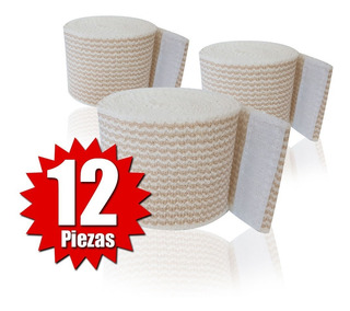 Venda Elástica Alta Compresión Con Velcro De 5cm (12 Piezas)