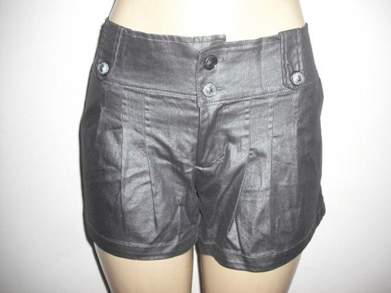 Shorts Cinza Chumbo Resinado M 42 Usado Bom Estado
