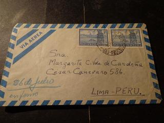 Argentina-1950- Cordoba-a- Lima/ Perú-ver Descripción