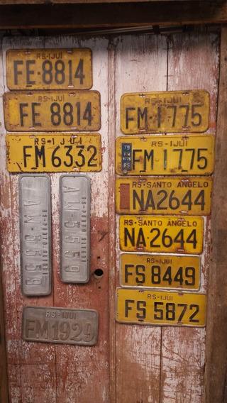 Placa Automotiva Amarela Letras E Números