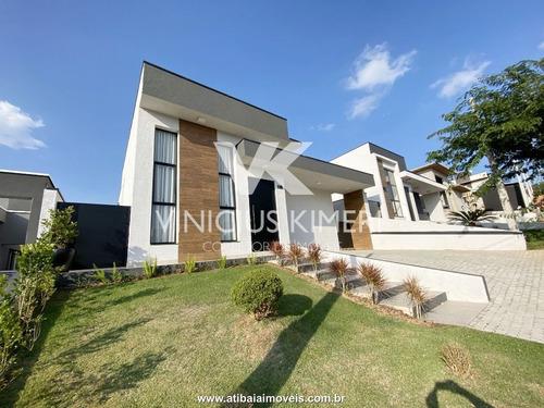 Casa Com 3 Dormitórios No Condomínio Terras De Atibaia I - Atibaia/sp - Ca0301