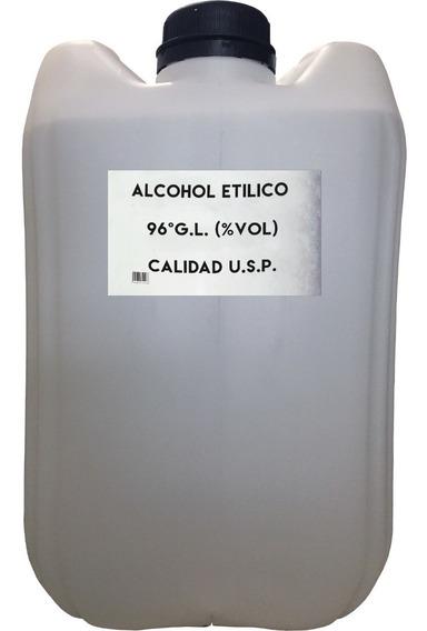 Alcohol Etilico 96° G.l. 20 Litros Granel Envio Mismo Dia