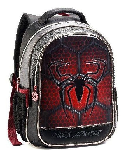 Mochila Infantil 35cm Aranha Dark Spider Denlex Dl0623