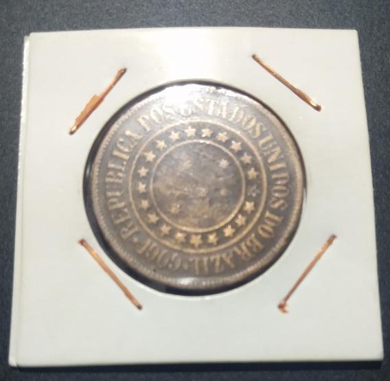 Moeda 40 Réis 1909 Bronze República