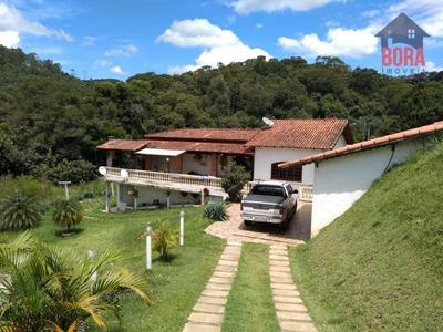 Belo Sítio Com Lago E 3 Casas No Pirucaia. 800mil - Si0019