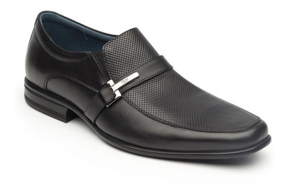 Calzado Zapato Flexi 90704 Negro Tan Casual Oficina Vestir