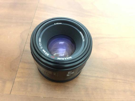 Lente Sony 50mm A Mount