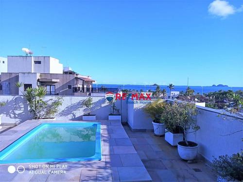 Cobertura Com 3 Dormitórios À Venda, 326 M² Por R$ 750.000,00 - Praia Da Enseada  Tortugas - Guarujá/sp - Co0229