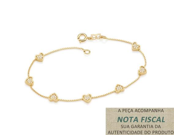 Pulseira Fio Cadeado Batido F. Ouro Rommanel 551427