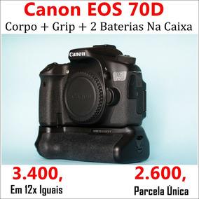 Canon Eos 70d + Grip + 2 Baterias + Caixas | Não T5i T6i T6s