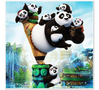 Album Figuritas Kun Fu Panda 3. Completo A Pegar