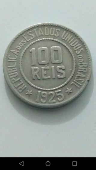 Moeda De 100 Réis De 1925 República Estados Unidos Do Brasil