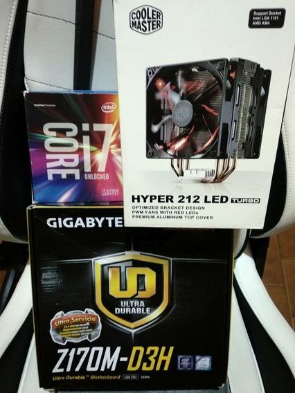 Combo I7 6700k + Mother Ga Z170m Ddr4 + Cooler 212 Led Turbo